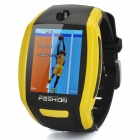 "F6 GSM Watch Phone w/1.8"" Resistive Screen, Single SIM and FM - Yellow"