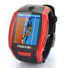 "F6 GSM Watch Phone w/1.8"" Resistive Screen, Single SIM, Quadband and FM - Red + Black"