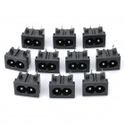 AC 250V Power Socket Inlet - Black (10-Piece Pack)