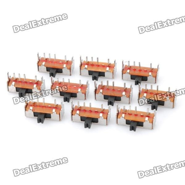 Mini Slide Switch DIY Parts - Silver (10-Piece Pack)