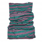 Multi Scarf Headwear Neck Bandana Warmer Mask(Peacock Green And Pink)