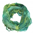 Multi Scarf Headwear Neck Bandana Warmer Mask(Green and blue)