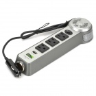 200W 110V-AC 3-Socket Car Power Inverter Power Bar with USB Port