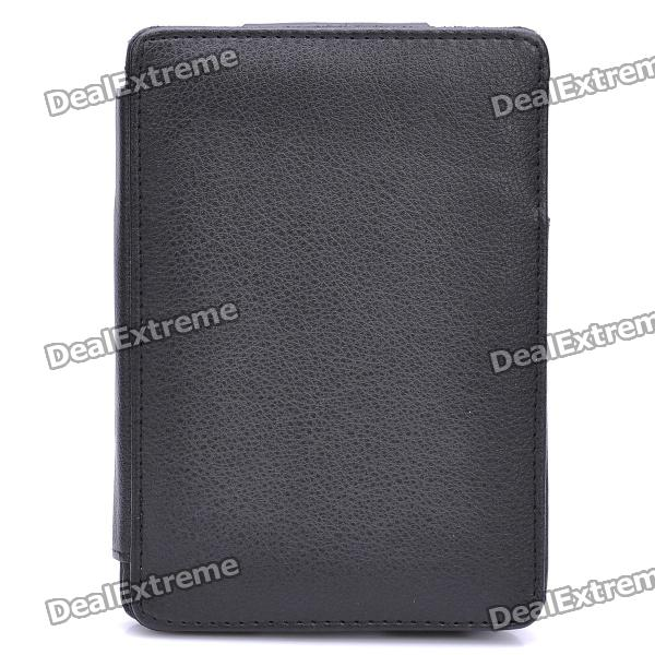 Protective PU Leather Case for Kindle 4 - Black lt 5t full metal full hard oxygen treatment combination shock absorber leakage proof 4 pcs