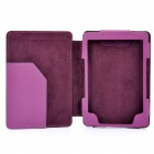 Protective PU Leather Case for Kindle 4 - Purple