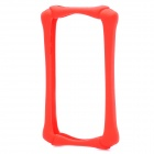 Skull Style Protective Silicone Bumper Frame for Iphone 4 / 4S - Red