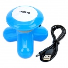 USB / 3 x AAA Powered Vibrating Muscles Massager électrique - Bleu