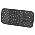 PU Leather Car Sun Visor CD / DVD Holder - Black + White