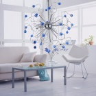 Indoor Stylish Blue Crystal Chandelier (110-120V)