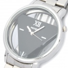 Hollow-Out Del Operator Style Stainless Steel Wrist Watch - Silvery Black (LR626)
