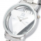 Hollow-Out Del Operator Style Stainless Steel Wrist Watch - Silvery White (LR626)