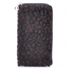 Fashionable Mobile Phone Carrying Bag/Pouch with Strap - Brown Black