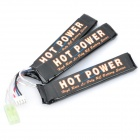Hot Power 11.1V 1100mAh 20C Lithium-Polymer Battery for M4 Gun - Black