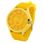 Fashion Silicone Band Quartz Wrist Watch - Yellow (1 x LR626)