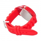 Fashion Silicone Band Quartz Wrist Watch - Red (1 x LR626)