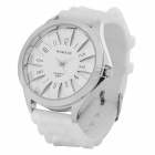 Fashion Silicone Band Quartz Wrist Watch - White (1 x LR626)