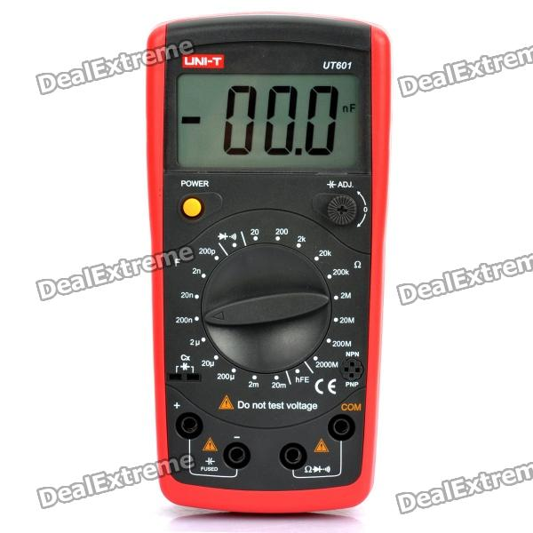 Uni-t 2.8 LCD Digital Capacitance Meter - Red + Grey (1 x 6F22/9V)Testers &amp; Detectors<br>Model:Form  ColorBlackPacking List<br>