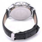 Fashion Stainless Steel Waterproof Quartz Wrist Watch - Black (1 x LR626)