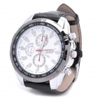 Fashion Stainless Steel Waterproof Quartz Wrist Watch - White (1 x LR626)