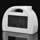 "3.2"" LCD Digital Weather Station Clock with Calendar/Hygrometer/Thermometer - White (3 x AAA)"