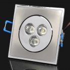 3W 210-270LM 6000-7000K 3-LED White Light Ceiling Lamp (220V)