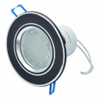 1.5W 110-170LM 6000-7000K White 24-SMD 3528 LED Light Lamp - Black + Silver (220V)
