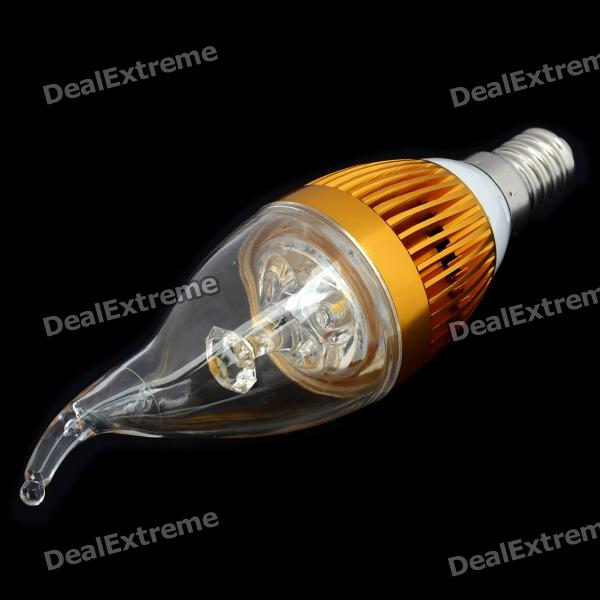 E14 3W 220-300LM Quente White Light 3-LED Candle Estilo Bulb (85 ~ 245V)