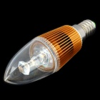 E14 Candle Style 1W 80-100LM 3000-3500K 1-LED Warm White Light Bulb - Gold (85~245V)