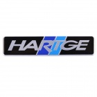 Decorative Sports HARTGE Logo Car Sticker - Black + Silver