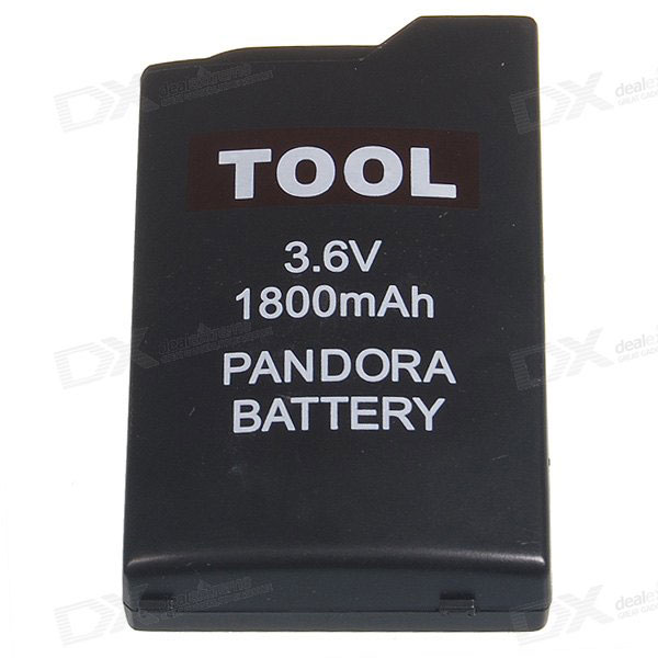 3.6V 1800mAh PSP Unbricker Battery for PSP 1000 / 2000 - Black
