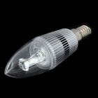 E14 Candle Style 1W 80-100LM 6000-7000K 1-LED White Light Bulb - Silver (85~245V)