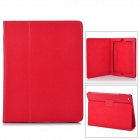 Protective PU Leather Case w/ Smart Cover for iPad 2 / New iPad - Red