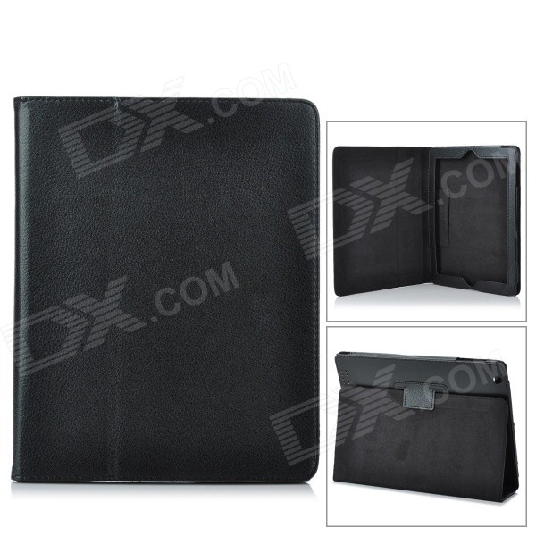 Protective PU Leather Case for Ipad 2 / New Ipad - BlackIpad Cases<br>- Color: Black- Material: PU leather- Designed specifically for   Ipad 2 / New Ipad- With case wakes up or make your New Ipad goes to sleep by open or close it- Can be used as a holder stand- Protect your device from scratches shock and dust<br>