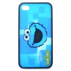 Cute Cookie Monster Pattern Protective PC Back Case for iPhone 4 / 4S - Blue