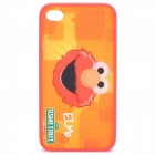 Cute Elmo Pattern Protective PC Back Case for iPhone 4 / 4S - Red + Orange