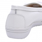 INCOME Women's Cow Leather Casual Shoes - White (Size-38)