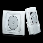One Way Wireless Remote Control Switch - White + Silver (110~220V)