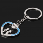 Zinc Alloy Lover Hand-in-Hand Style Keychain (2-Piece Pack)