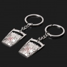 Zinc Alloy Money Barrels Style Keychain for Lovers - Silver (2-Piece Pack)