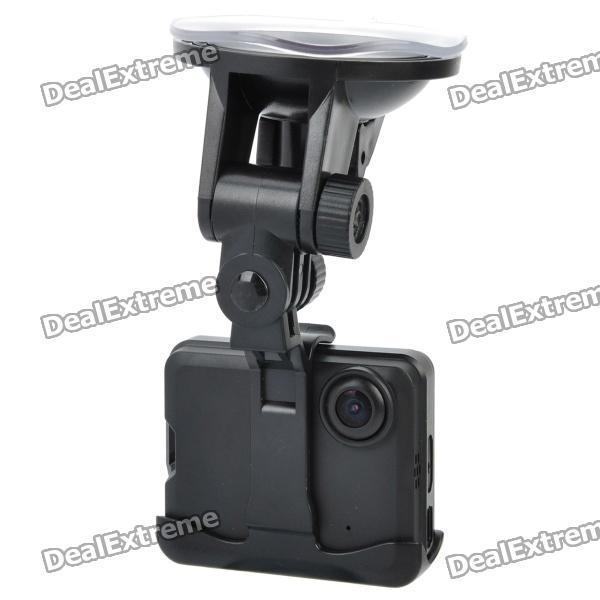 720P Car DVR Video Road Safety Guard Camera w/ AV-Out / USB 2.0 - Black (2.0