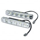 10W 350LM 6000-7500K White 5-LED Car Daytime Running Light (DC 12V / Pair)