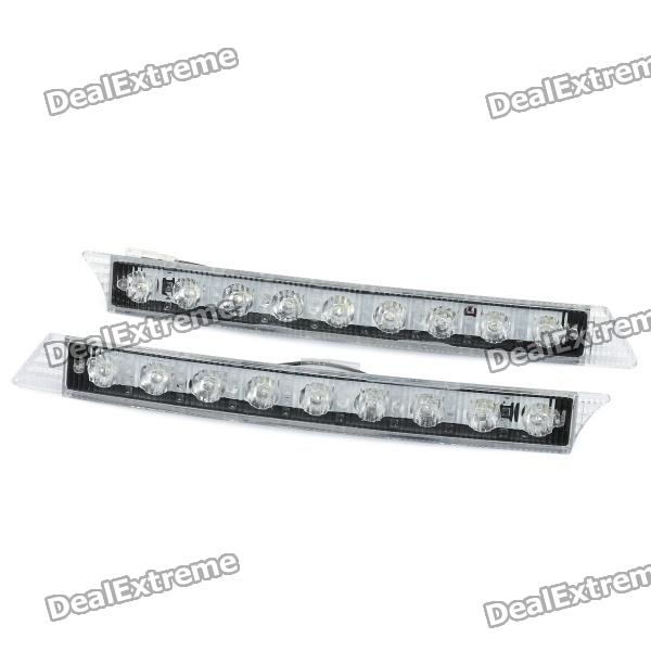 3W 50LM 6000-7500K White 9-LED Car Daytime Running Light (DC 12V / Pair) - DXOther Car LED Bulbs<br>Model: C05 Material: Plastic casing Emitter Type: LED Total Emitters: 9 Power: 3W Color BIN: White Rated Voltage: DC 12V Rated Current: 250mA Luminous Flux: 50LM Color Temperature: 6000~7500K<br>