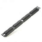 24-Port Network Modular patch Panel - Black + White