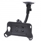 Car Swivel Suction Cup Mount Holder w/ Car Charger / USB Charging Cable for Samsung i9220 - Black