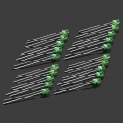 590~635nm 800~1000MCD 3mm LED - Green (20-Piece Pack)