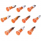 DIY AC 220V 10mm Signal Light - Orange (10 Pieces Pack)