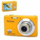 "KELDA HYTO-530 5.0MP Digital Camera Camcorder w/ 3X Optical Zoom / SD - Yellow (2.7"" LCD)"