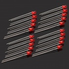 620~625nm 800~1000MCD 3mm LED - Red (20-Piece Pack)