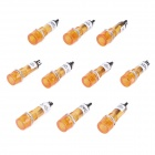 XD10-1 10mm Signal Light Lamp - Orange (DC 12V / 10-Piece Pack)