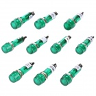 XD10-1 10mm Signal Light Lamp - Green (DC 12V / 10-Piece Pack)